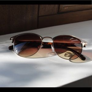 Brown and gold sunglasses.